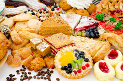 A lot of pastry Stock Image