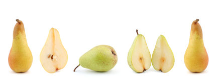 Lot of pears. Isolated on white background Royalty Free Stock Images