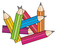 A lot of pencil Stock Photo