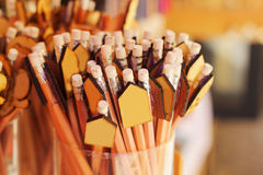 A lot of pencil for sale Royalty Free Stock Photos