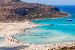 A lot of people in Balos lagoon of crete island. Greece. Stock Photography