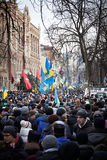 A lot of people came on the Independence Square during revolution in the Ukraine Royalty Free Stock Photos