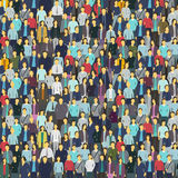 A lot of people, colorful texture. Background from the crowd. A lot of people colorful texture. Background from the crowd. Vector illustration Royalty Free Stock Photo