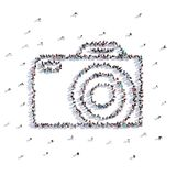 A lot of people form wedding camera, love Royalty Free Stock Image