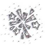A lot of people form wedding firework , love. A lot of people form wedding firework, love on a white background. 3d illustration. 3d rendering Royalty Free Stock Photography