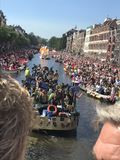 Gay pride parade Amsterdam Royalty Free Stock Image