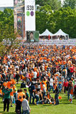 A lot of people - Koninginnedag 2011. Koninginnedag or Queens Day is a national holiday in the Netherlands, the Netherlands Antilles, and Aruba on 30 April or on Royalty Free Stock Photo