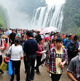 A lot of people see waterfall. In the National Day see huangguoshu falls crowd.Photo taken on: October 1th, 2012 Stock Image