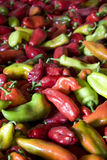 A lot of peppers Royalty Free Stock Photos