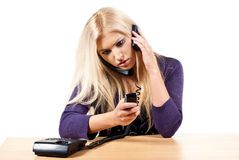 A lot of phone calls Royalty Free Stock Photo