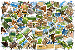 A lot of photos Stock Photography