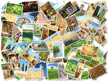 A lot of photos Stock Images