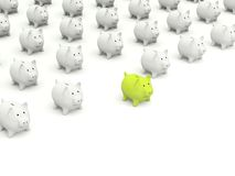 Lot of Piggy banks Royalty Free Stock Images