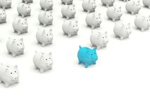 Lot of Piggy banks Royalty Free Stock Image