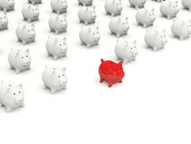 Lot of Piggy banks Stock Images