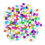 Lot of pills, isolated Royalty Free Stock Photos