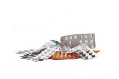 A lot of pills and medicines Royalty Free Stock Photo