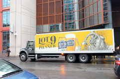 Lot 9 Pilsner Truck and Trailer Delivery Truck Stock Photography