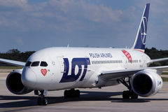 LOT - Polish Airlines Royalty Free Stock Photo