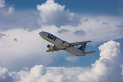 LOT Polish Airlines Boeing 737-45D Immagine Stock