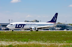 LOT - Polish Airlines Boeing 737 Royalty Free Stock Photos