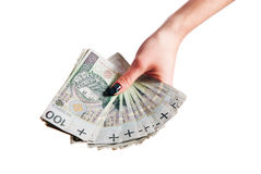 A lot of polish money. A lot of polish banknote Royalty Free Stock Photography