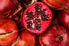 Lot Pomegranate Stock Image