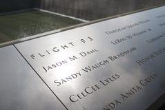 Lot 93 9/11 pomników zdjęcia stock