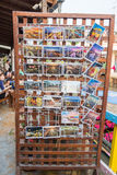 Lot of postcard for sale at Amphawa floating market Stock Images