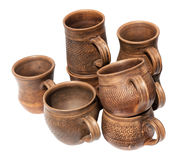 A lot of pottery on white Stock Photography