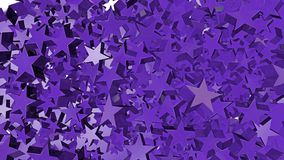 A lot of poured shining purple stars. On the floor royalty free illustration