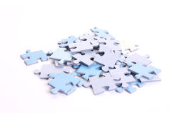 A lot of puzzles Stock Images