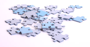 A lot of puzzles Stock Photos