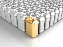 It is a lot of PVC cans. Computer generated image (3d render Royalty Free Stock Images