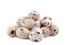 Quail egg on a white background. isolated. A lot of quail egg on a white background. isolated Royalty Free Stock Photos
