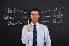 A lot of question royalty free stock photo