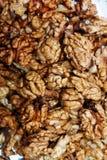 A lot of raw wallnuts, vertical shot Stock Images