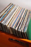 Lot of records in sleeves Stock Images