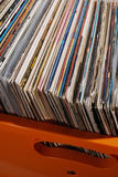Lot of records in sleeves Royalty Free Stock Images