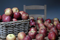 Lot of Red Apples Stock Images