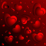 A lot of red hearts Stock Photo