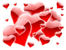 A lot of red hearts Royalty Free Stock Photo