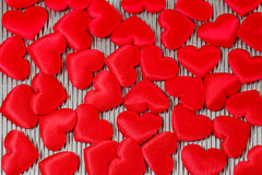 Lot of red hearts Stock Photography