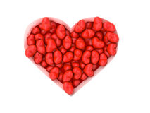 A lot of red hearts on white background Valentine`s Day. 3d illustration. A lot of red hearts on white background Valentine`s Day Stock Image