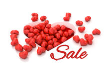 A lot of red hearts on white background Valentine`s Day. 3d illustration. A lot of red hearts on white background Valentine`s Day Stock Photography