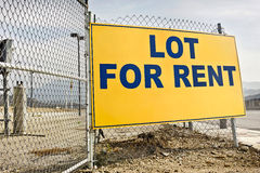 Lot for Rent Sign