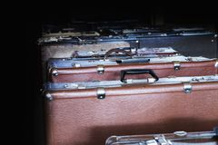 A lot of suitcases Royalty Free Stock Image