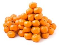 Lot of ripe mandarin oranges Stock Images