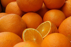 A lot of ripe oranges Royalty Free Stock Photography