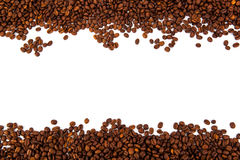 A lot of roasted coffee beans. Close-up Royalty Free Stock Images
